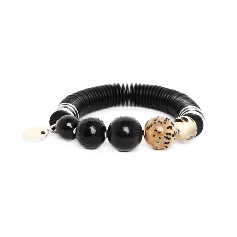 SERVAL bracelet 5 perles rondes