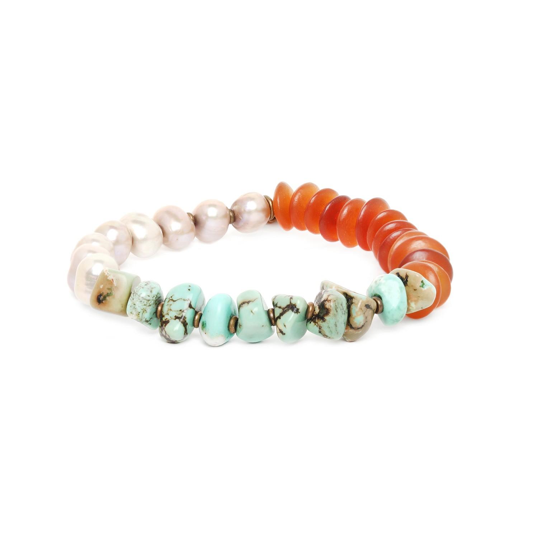 FOREST THERAPY  stretch bracelet w/ pearls