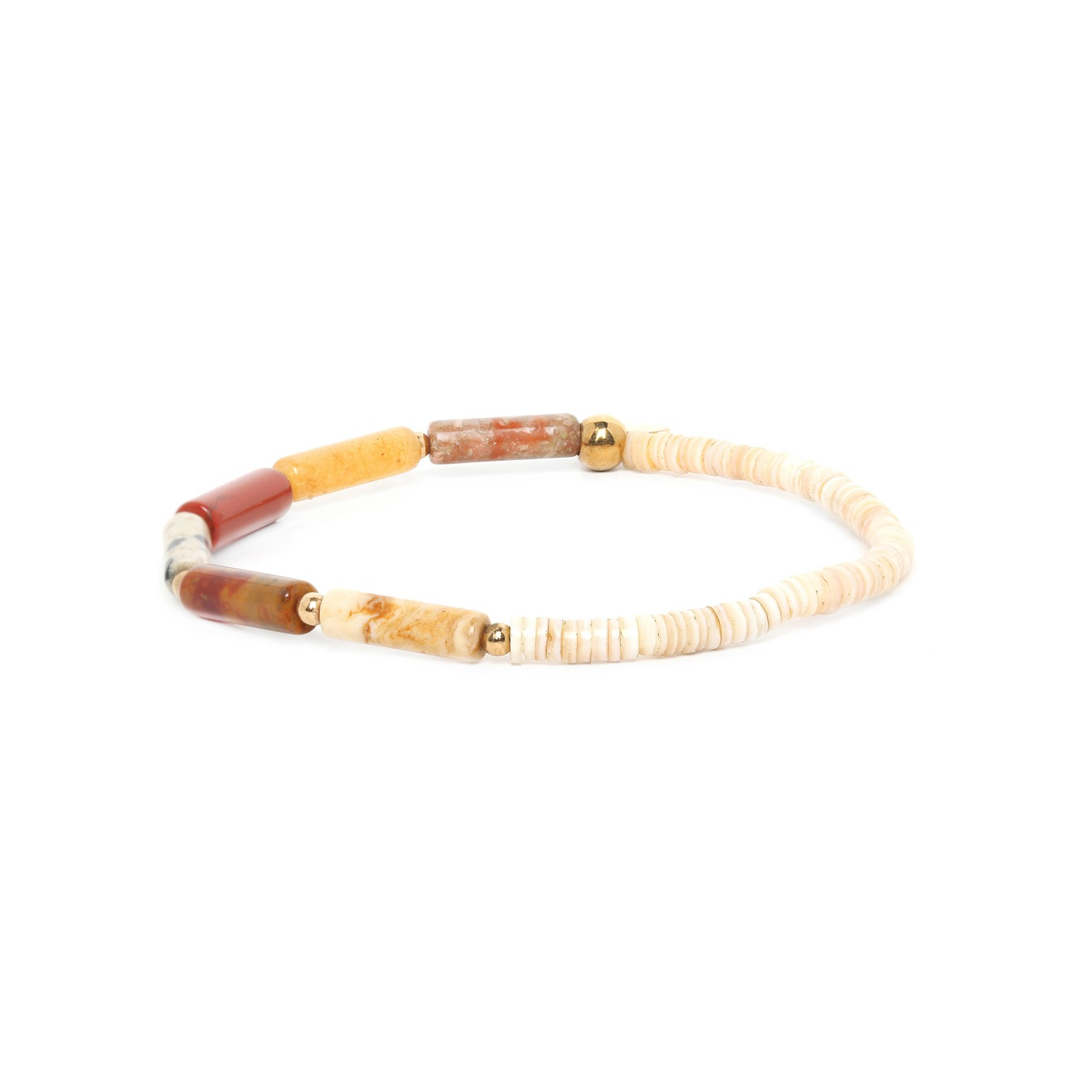 PIPELINE bracelet nuances rouge