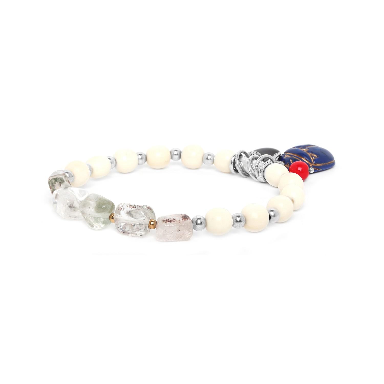 SEKHMET bone & cristal bracelet