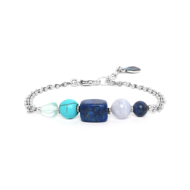 BLUE STONES 5 stones bracelet