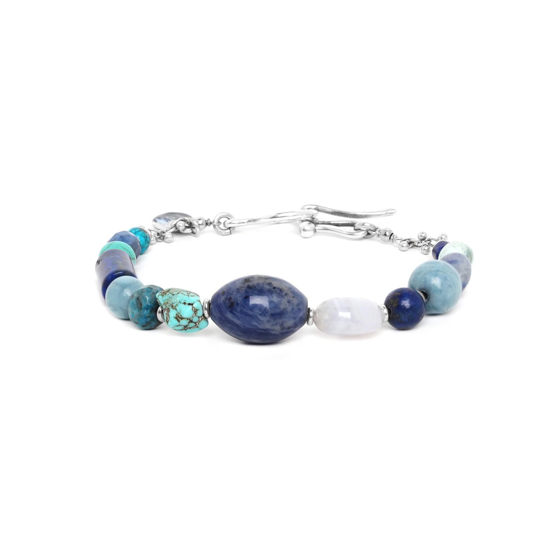 BLUE STONES hook bracelet