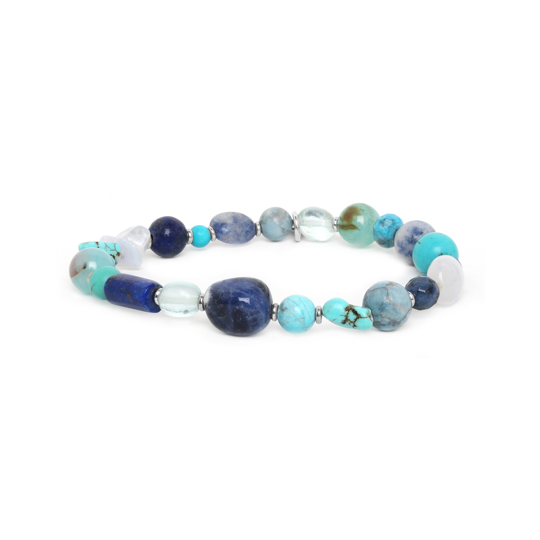 BLUE STONES stretch bracelet