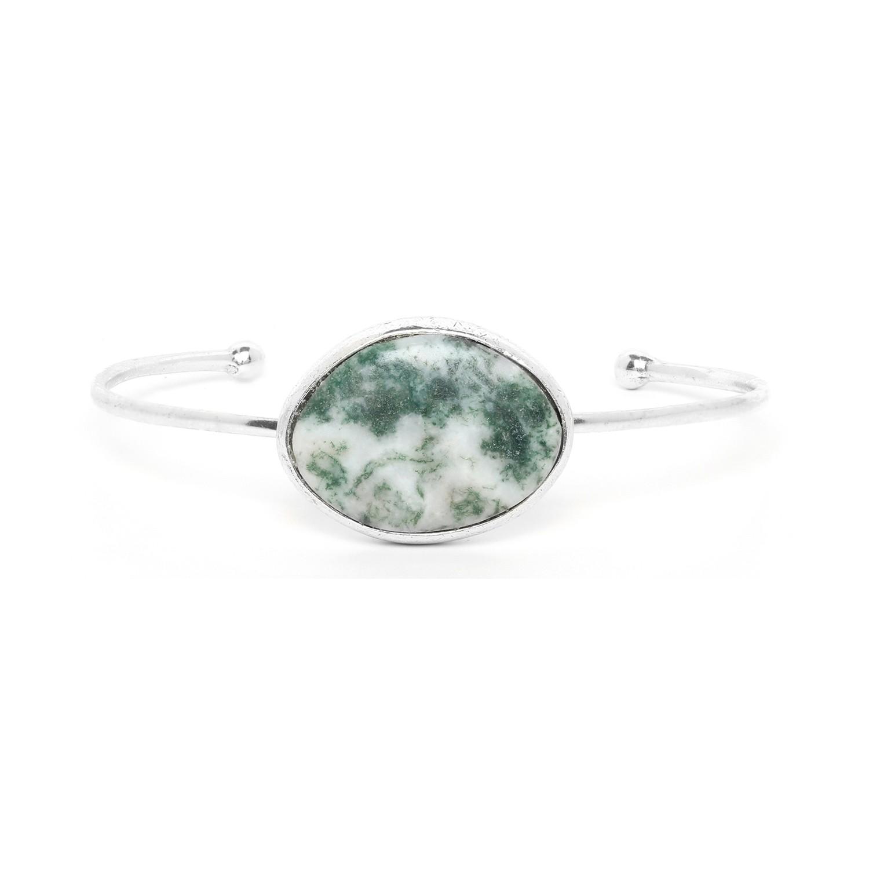 GALETS agate moss cuff bracelet