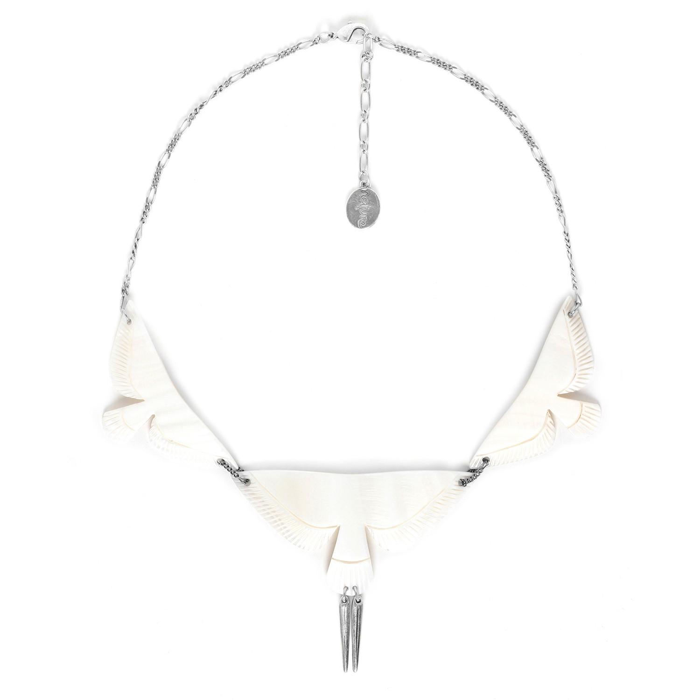 ENVOL LE collier/ nacre blanche