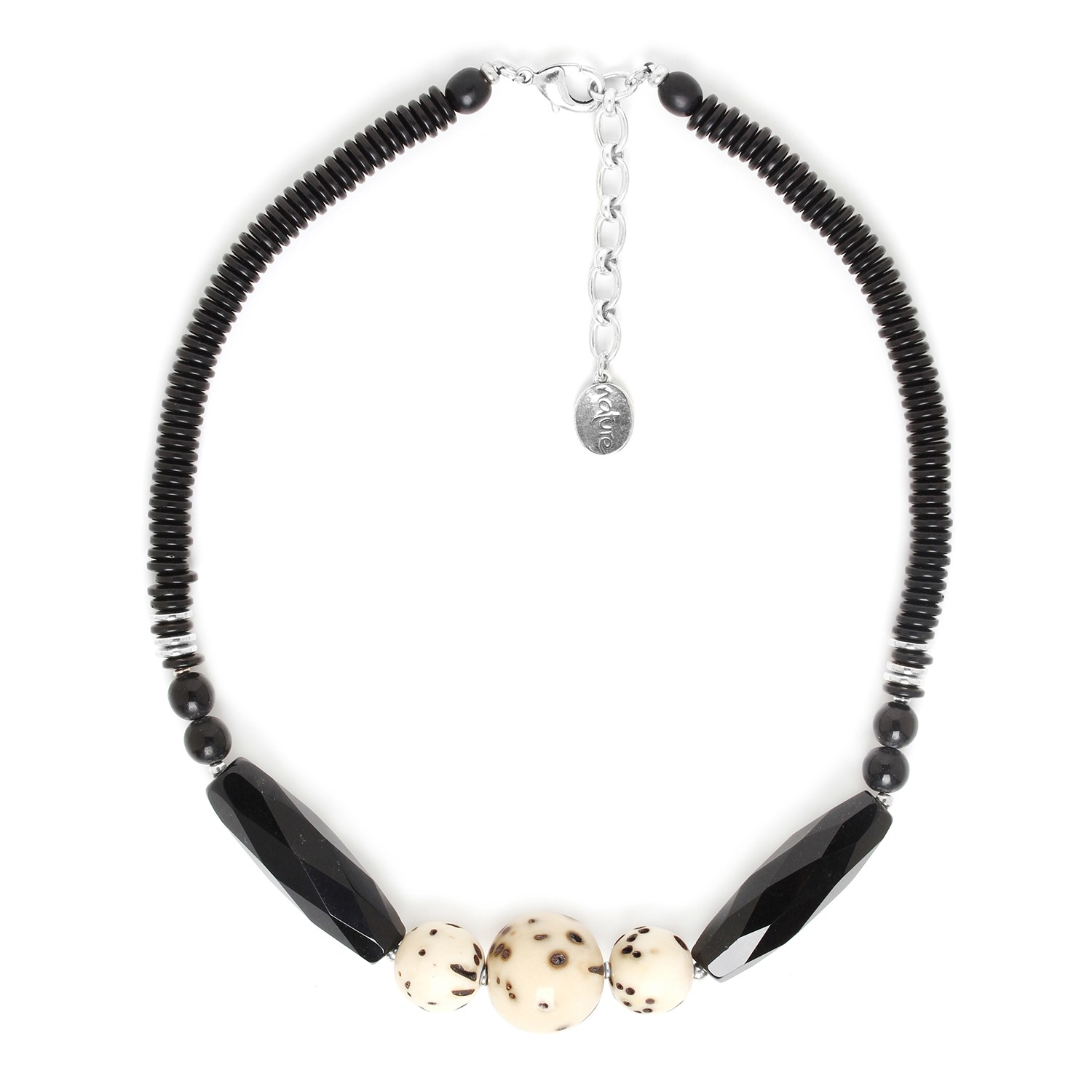SERVAL collier 3 perles rondes