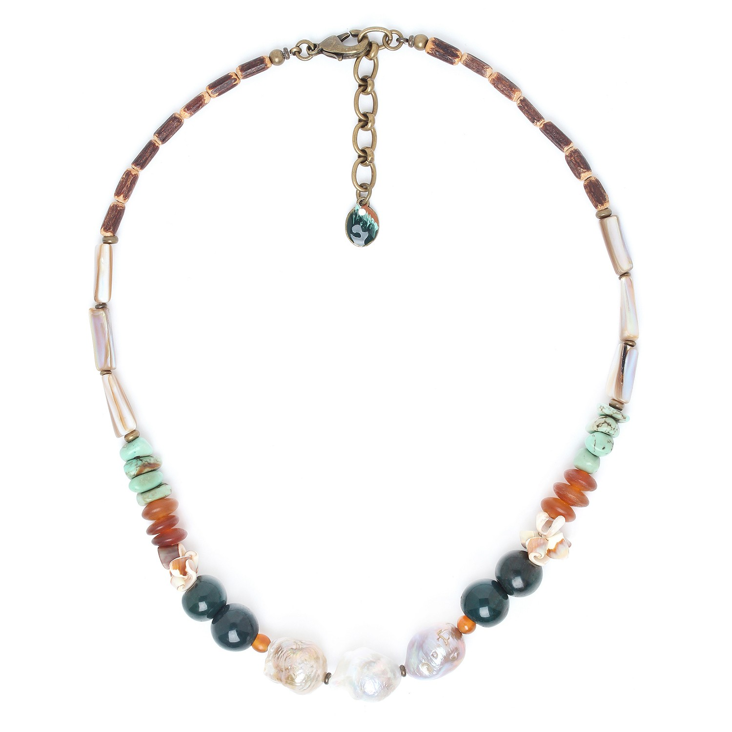 FOREST THERAPY pearls center necklace