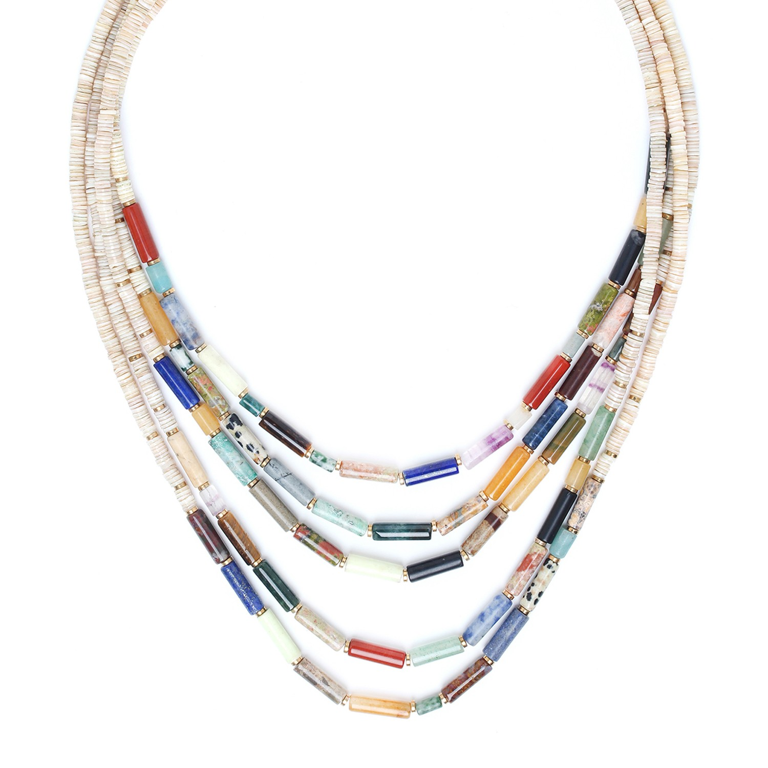 PIPELINE 5 row necklace