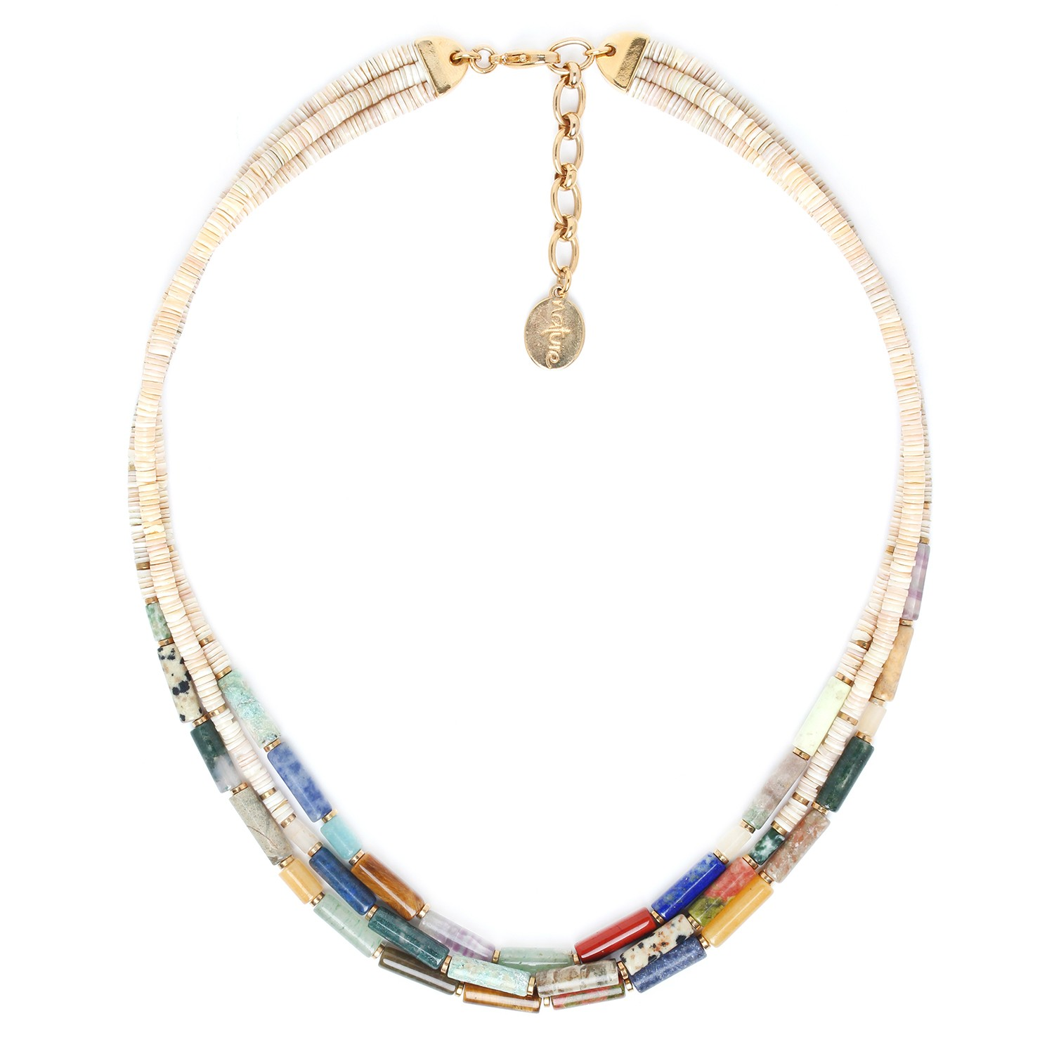 PIPELINE 3 row necklace