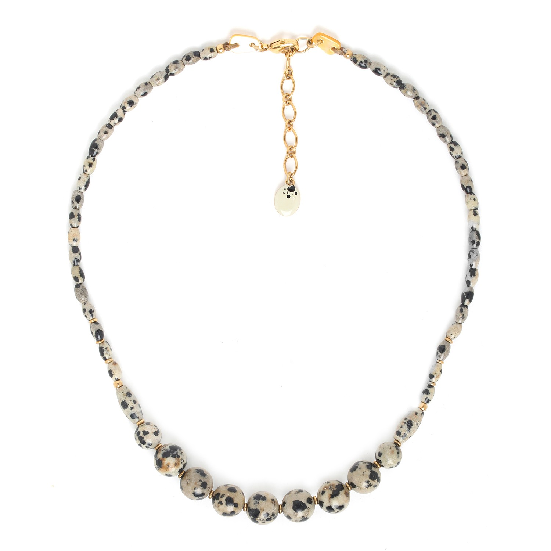 TIZI OUZOU dalmatian jasper necklace