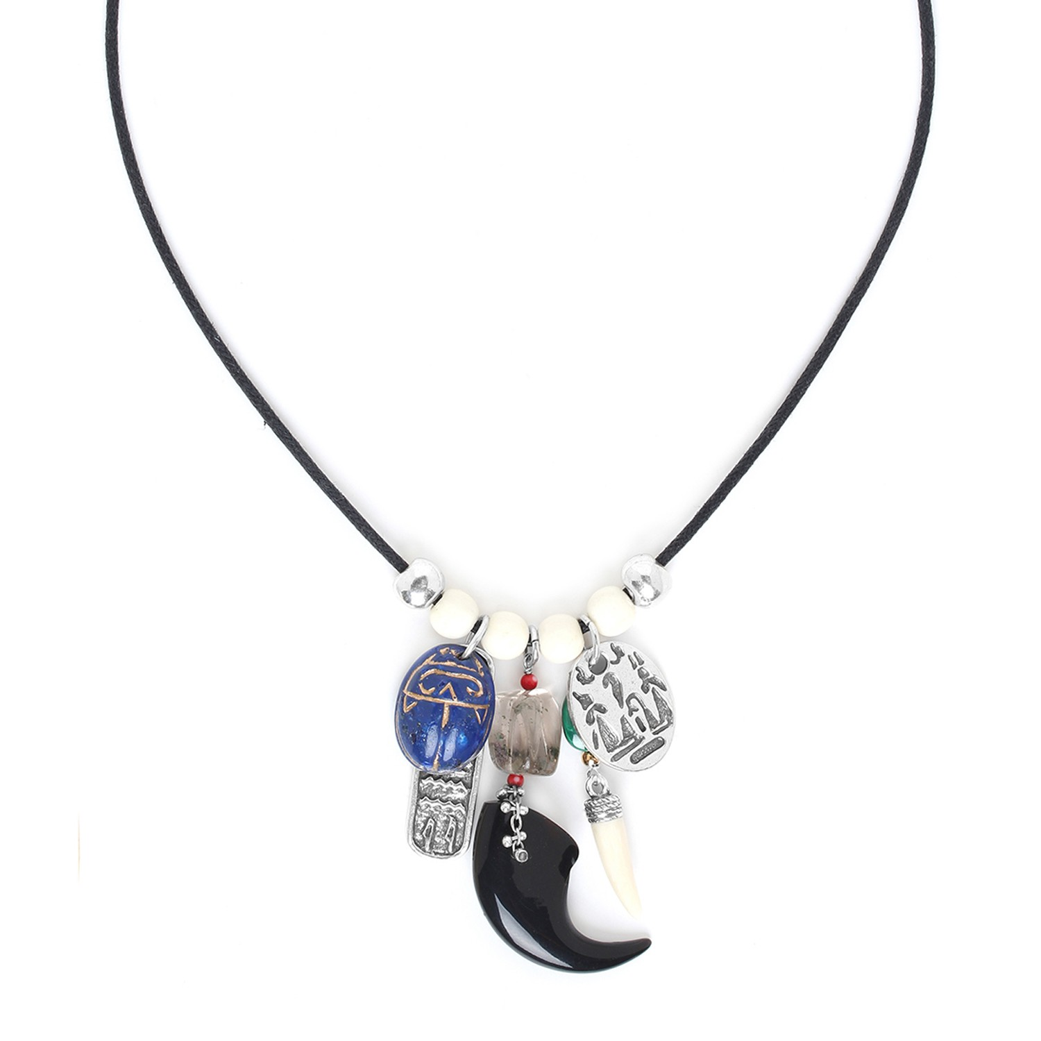 SEKHMET multi dangles necklace