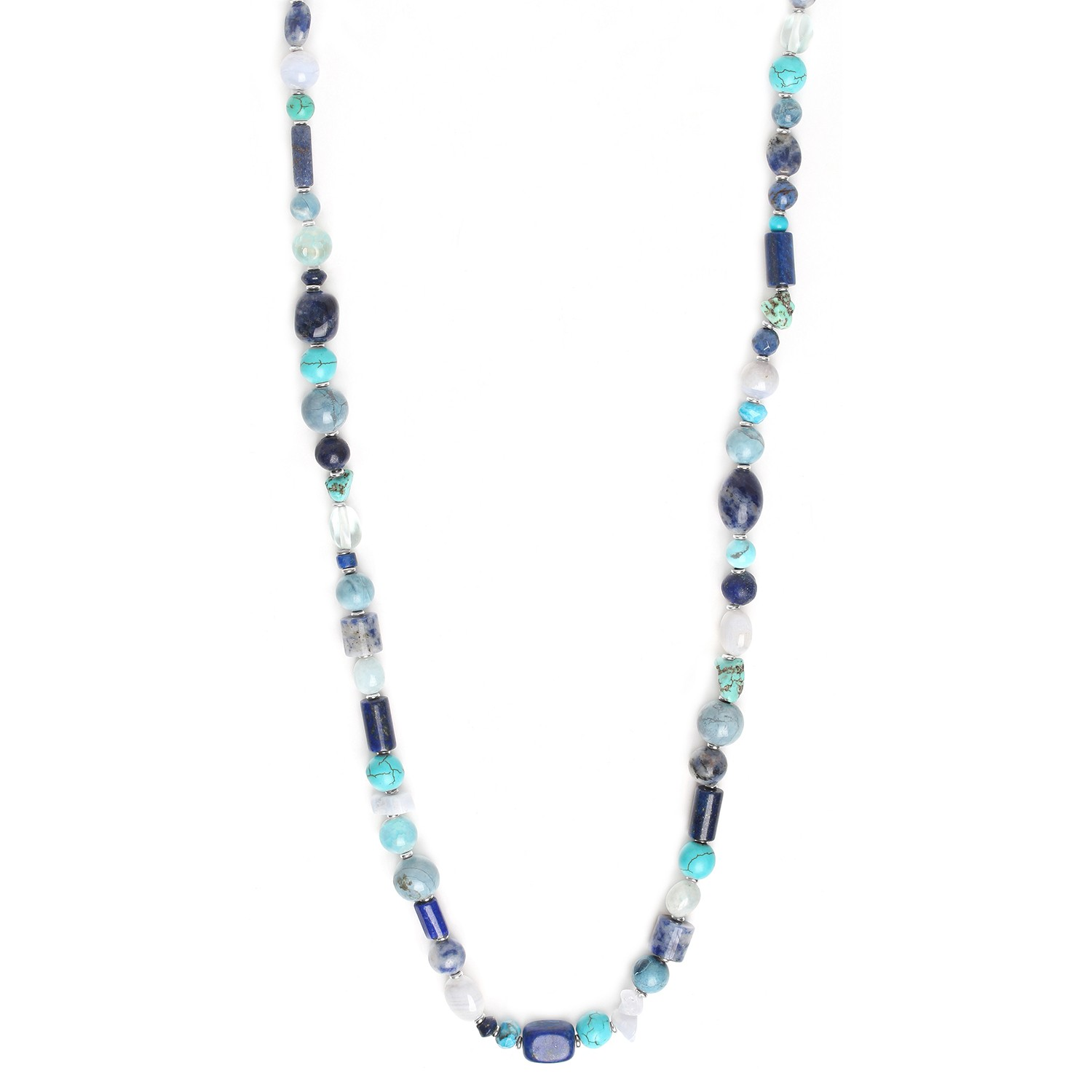 BLUE STONES collier long