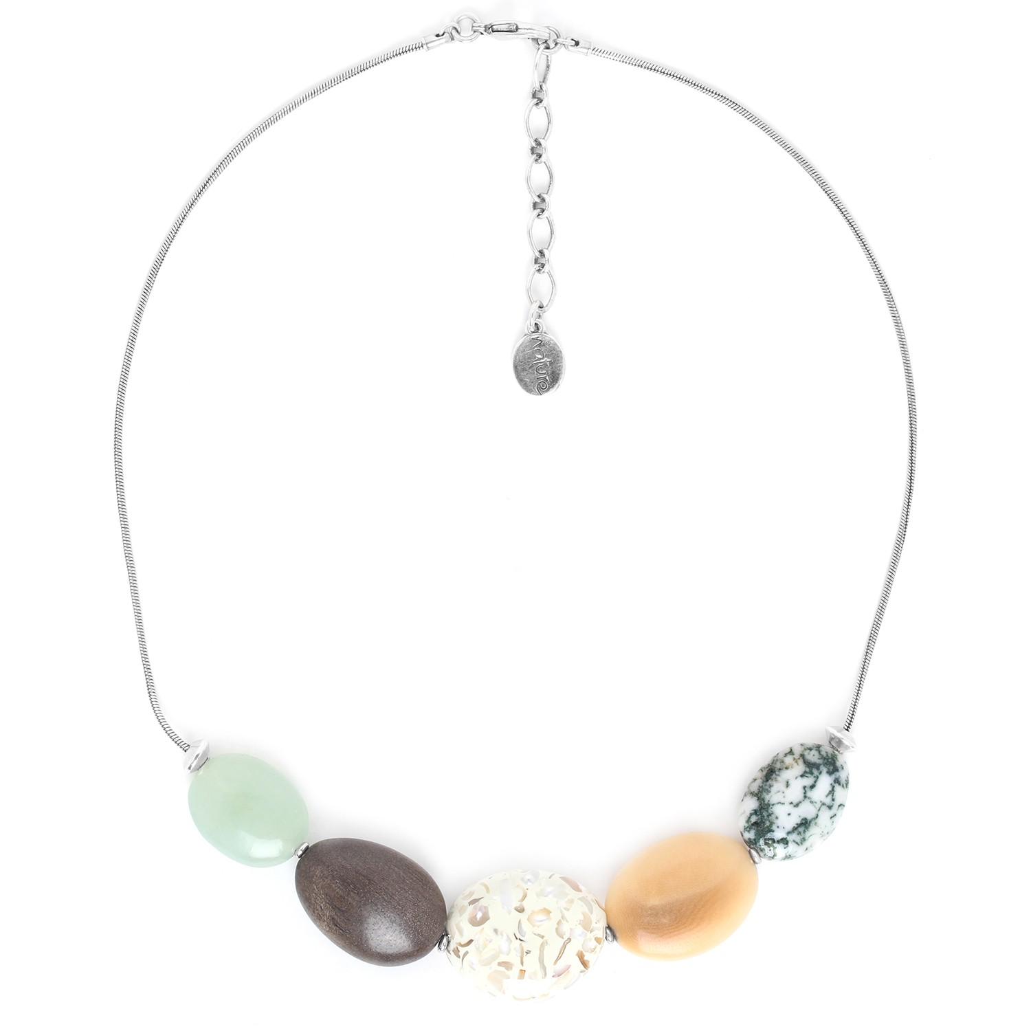GALETS 5 pebbles necklace