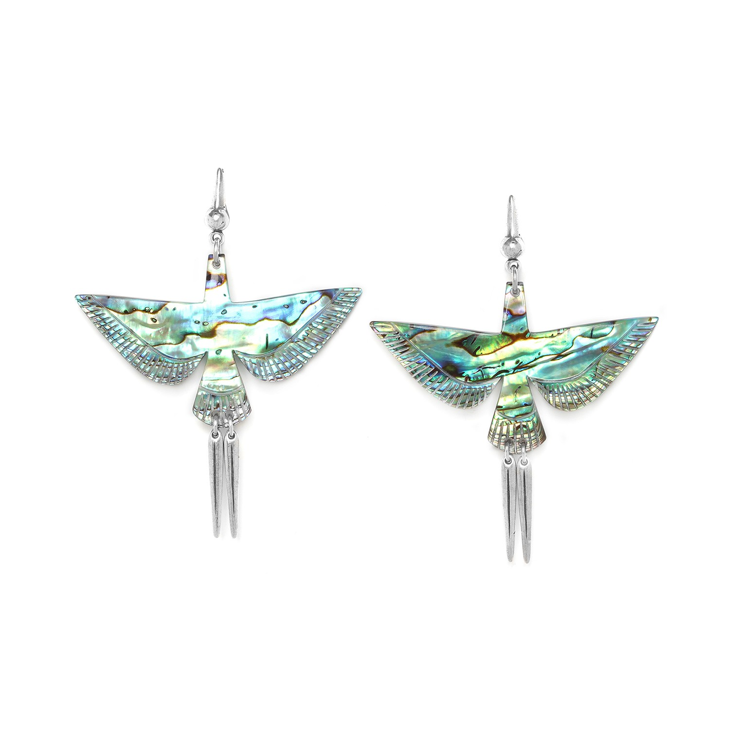 ENVOL Paua bird earrings