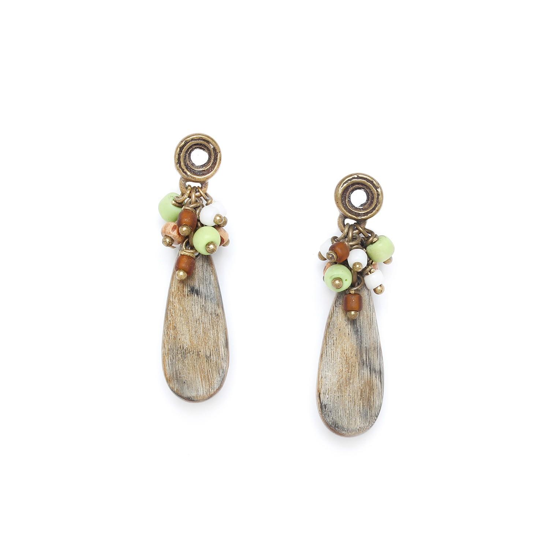 MAMBARE horn drop earrings
