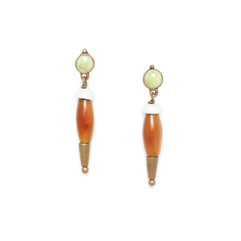 MAMBARE horn olive earrings