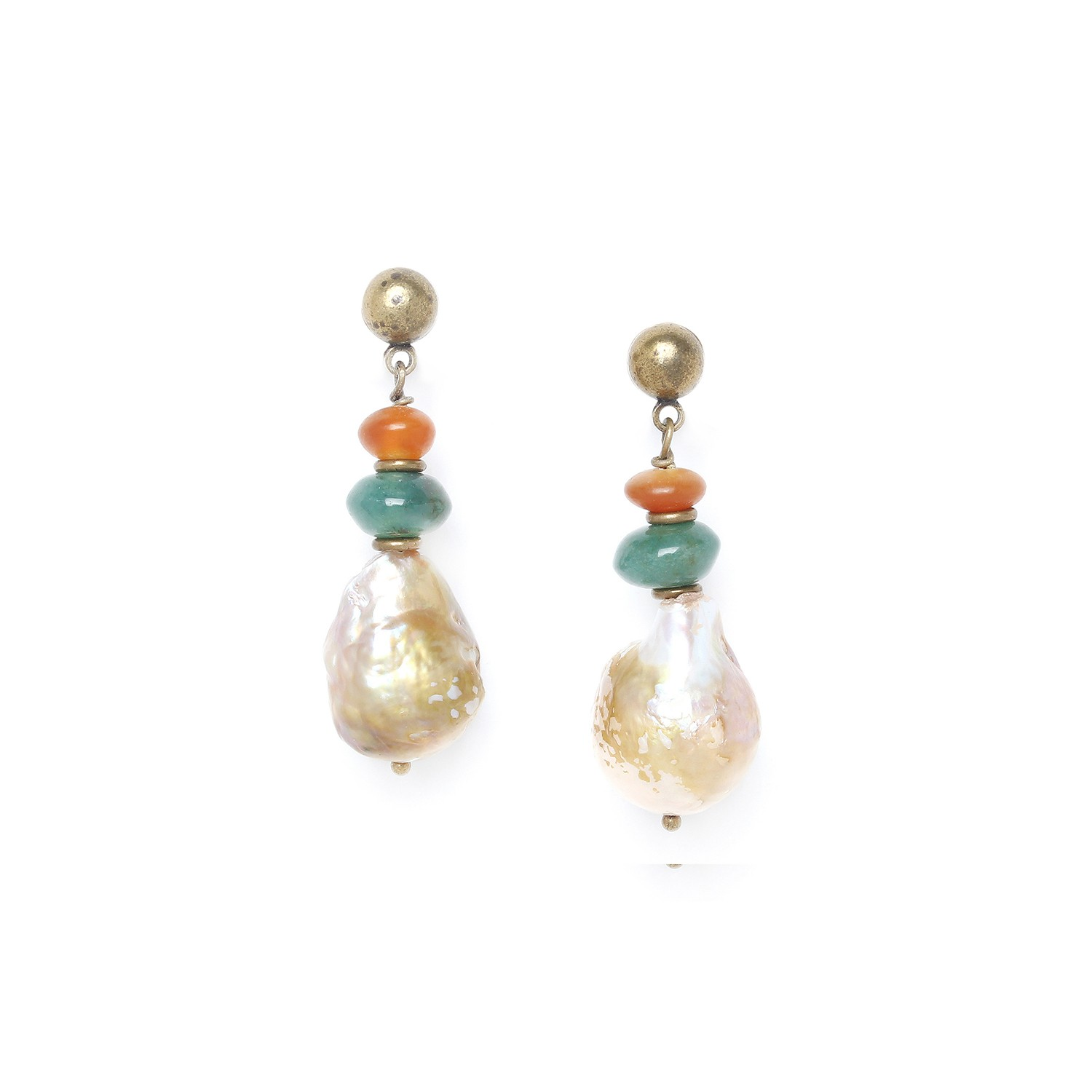 FOREST THERAPY big pearl earrings