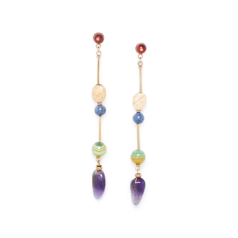 MINERA longue earrings