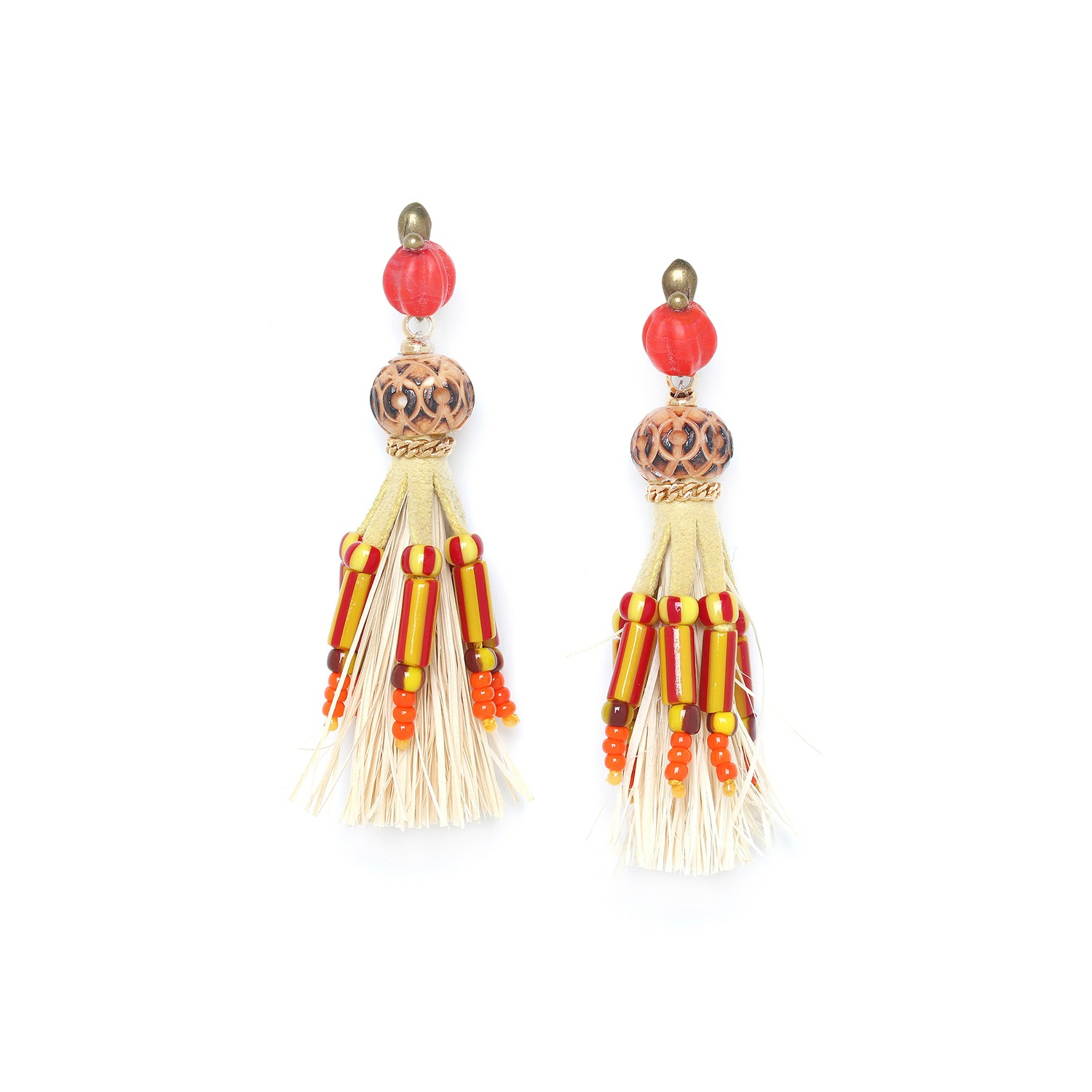 ULUWATU raphia BIG earrings