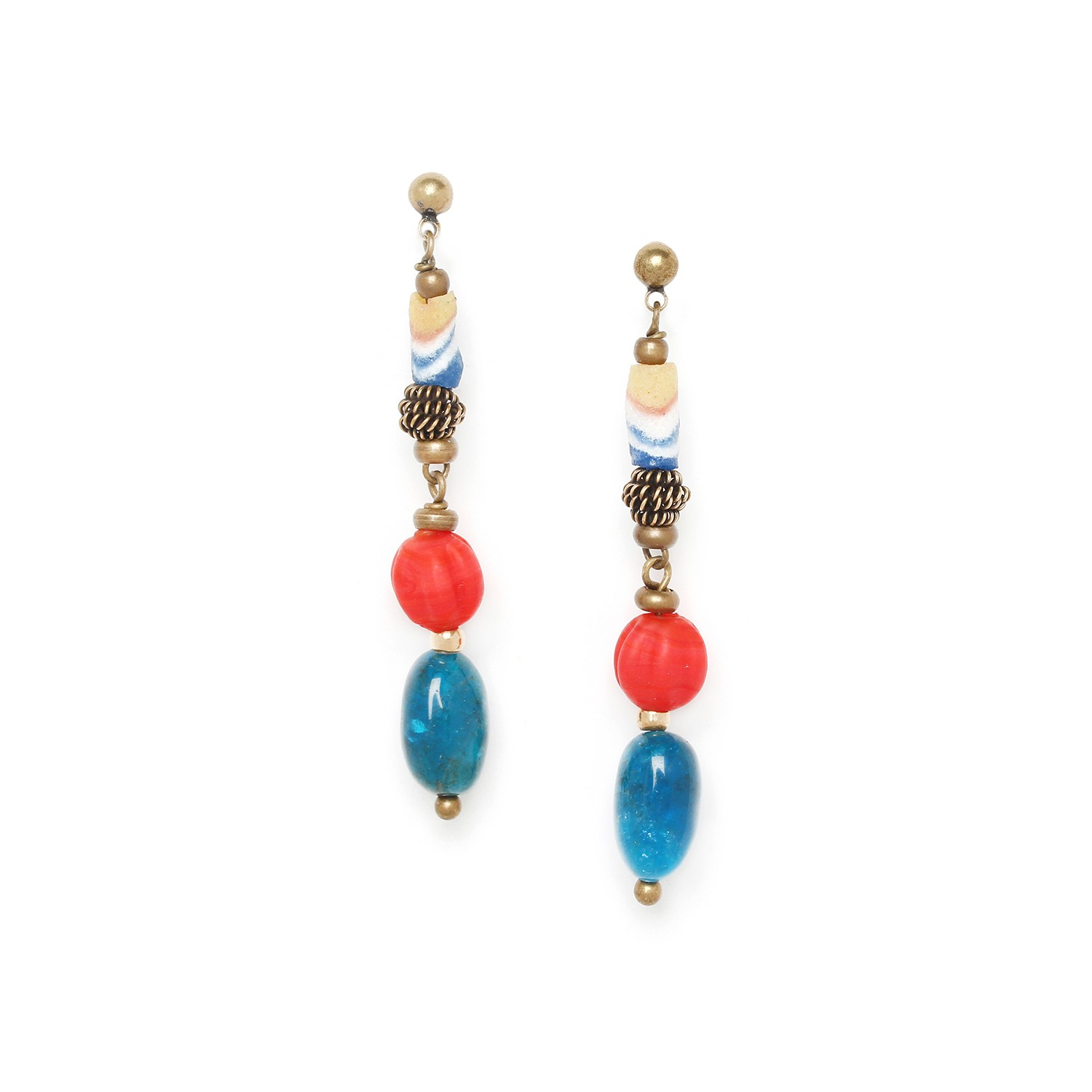 ULUWATU long earrings  apatite