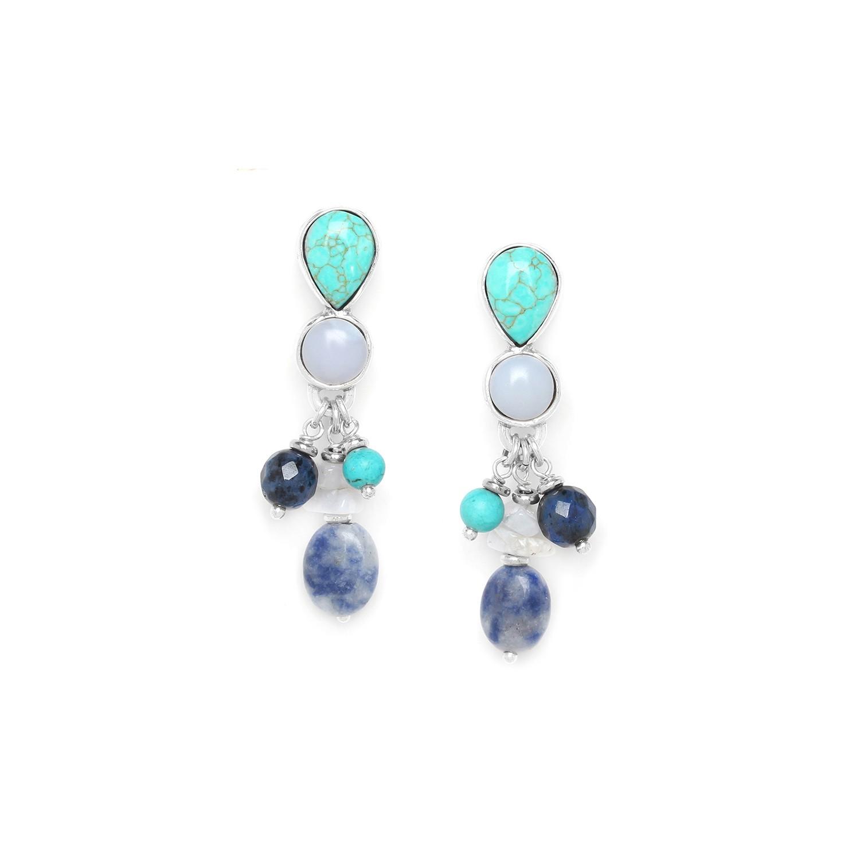 BLUE STONES grape earrings