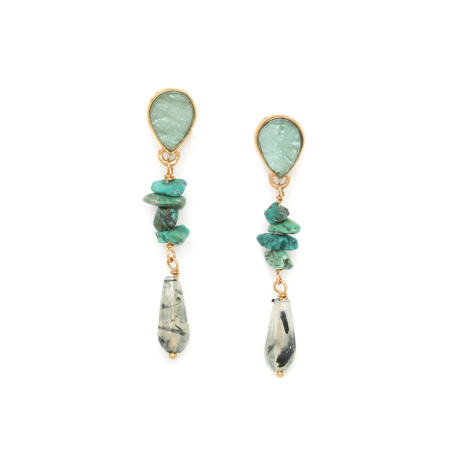 EUCALYPTUS 2 drops earrings