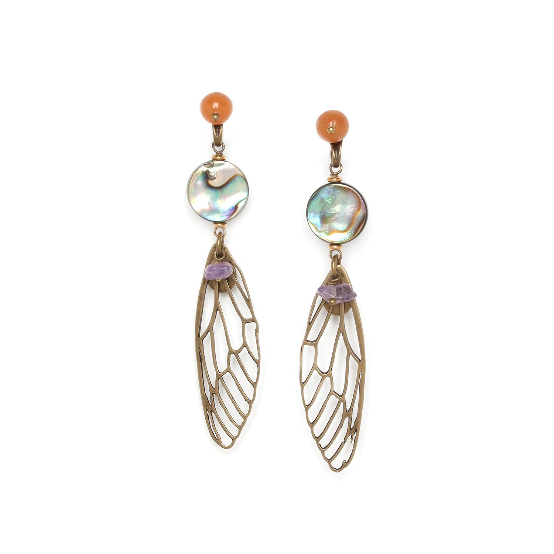 MYSTIQUE cicada wings post earrings