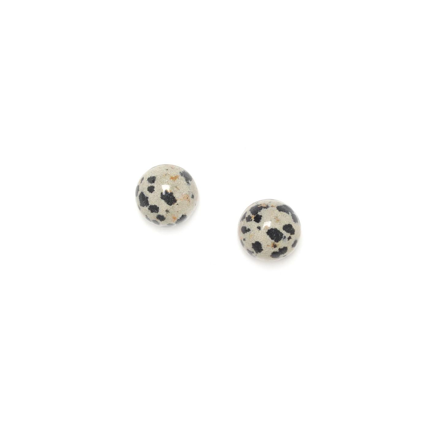 PUCE boucles d'oreilles cabochon jaspe dalmatien