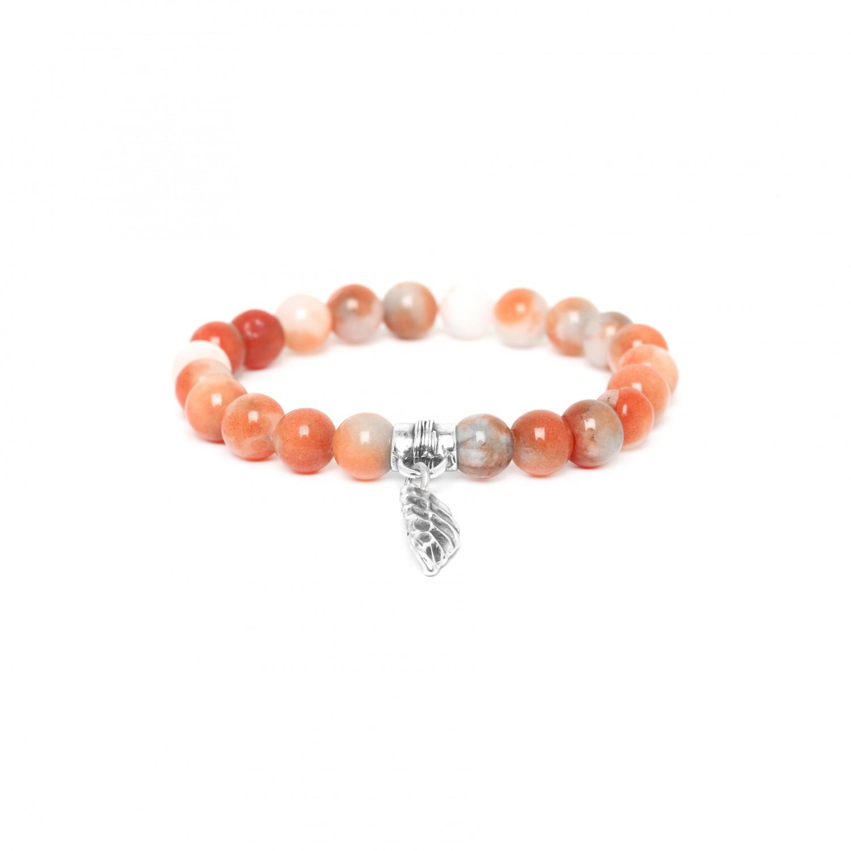 LEAF bracelet extensible en agate