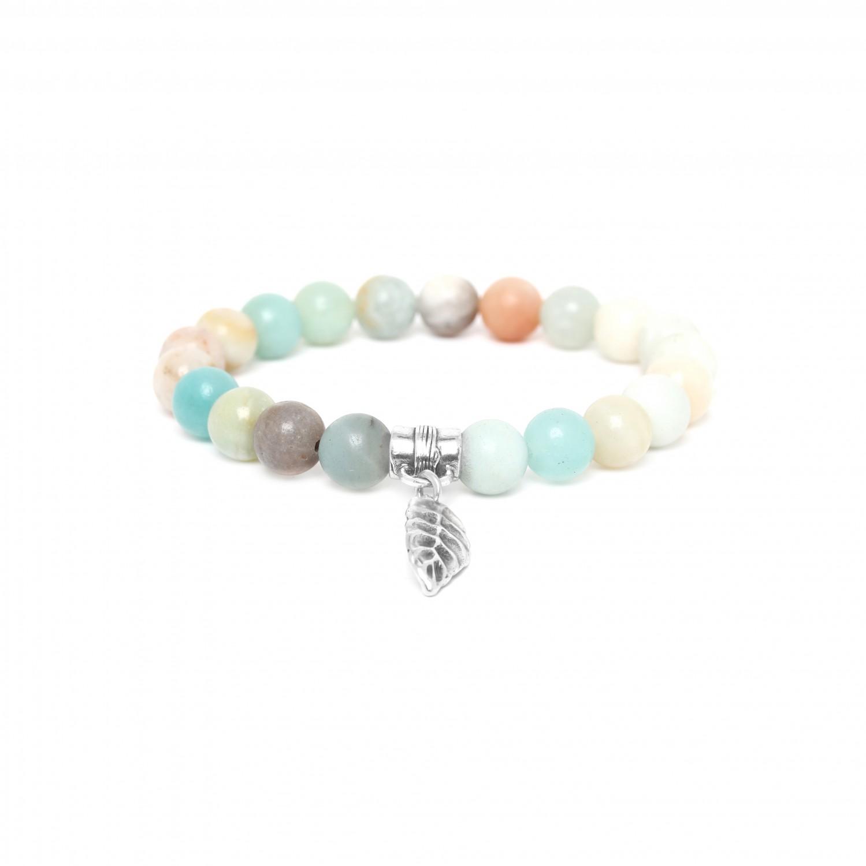 LEAF bracelet extensible amazonite