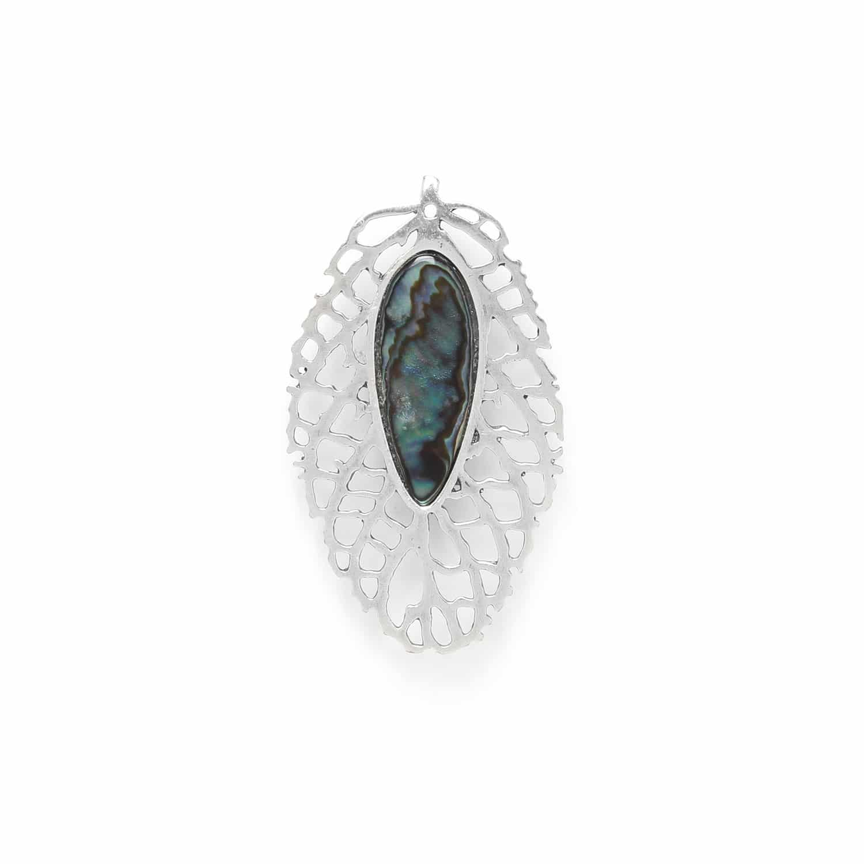 FITTONIA leaf brooch /silver