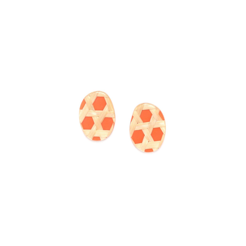 CANNAGE  petites boucles d'oreilles mandarine