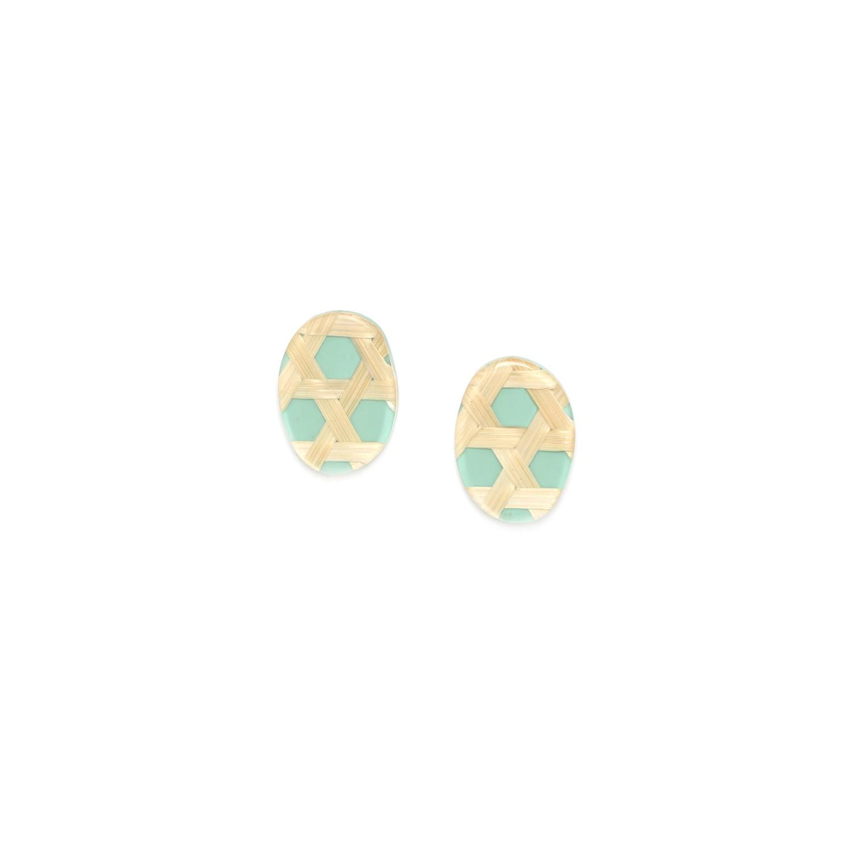 CANNAGE  petites boucles d'oreilles turquoises