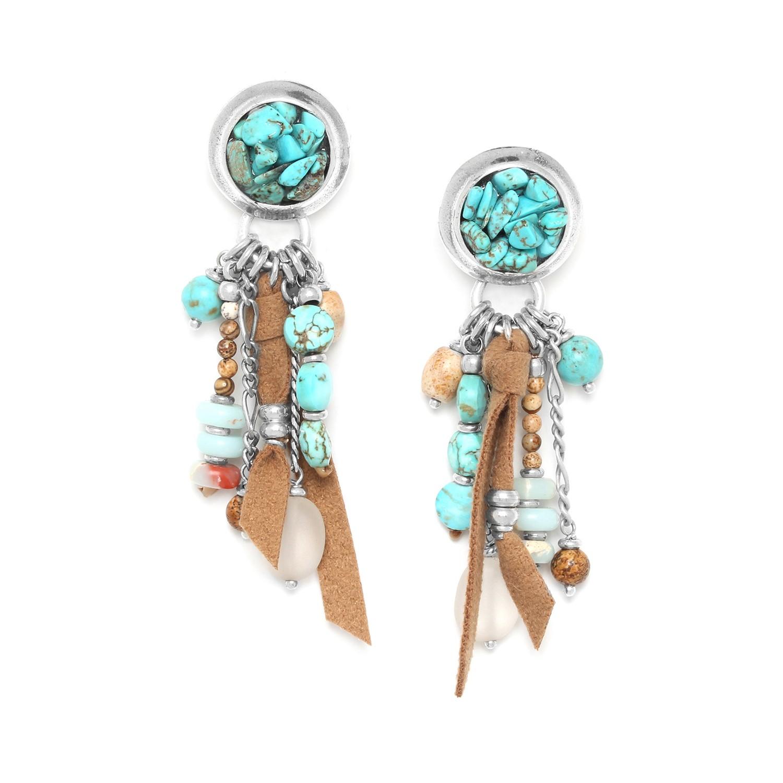 COLORADO multi dangle turquoise earrings