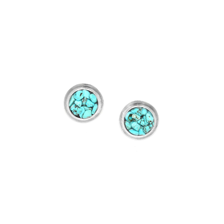 COLORADO boucles d'oreilles éclats de turquoise