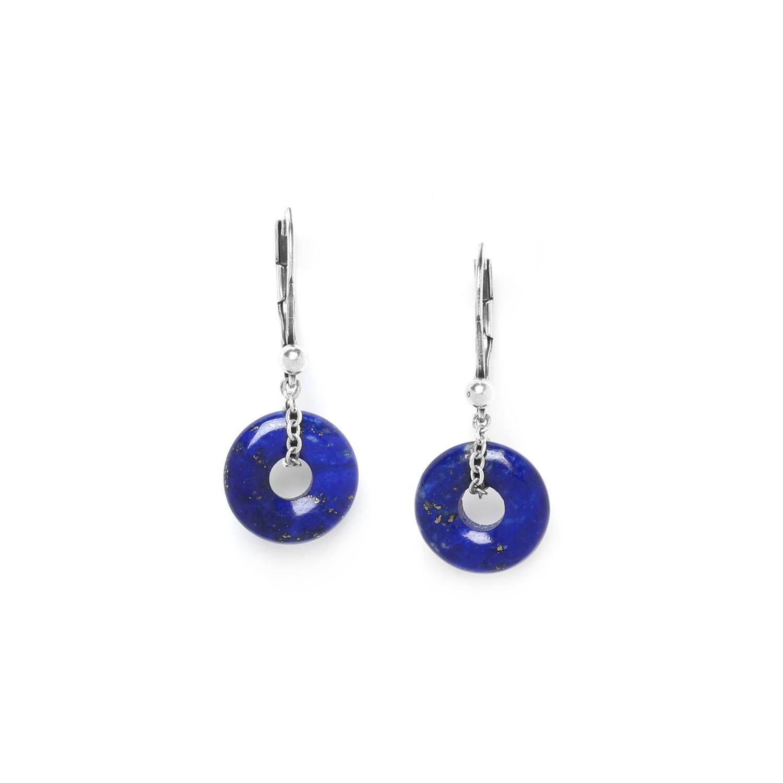 FITTONIA boucles d'oreilles anneau de lapis lazuli