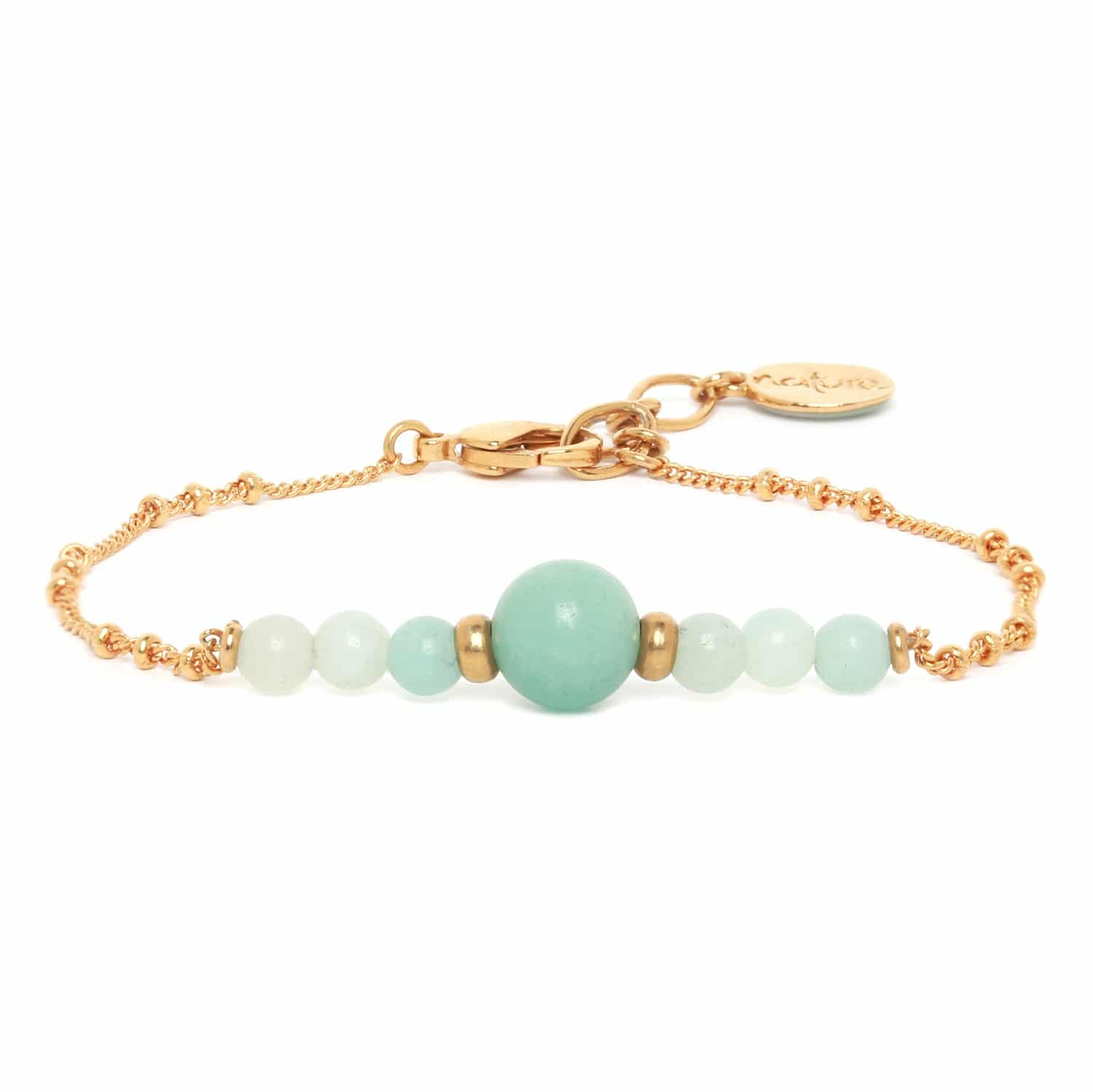 CELADON bracelet amazonite chaine or