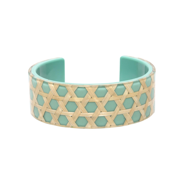 CANNAGE bracelet rigide turquoise