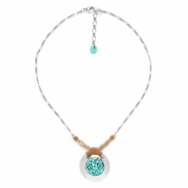 COLORADO turquoise chip pendant necklace