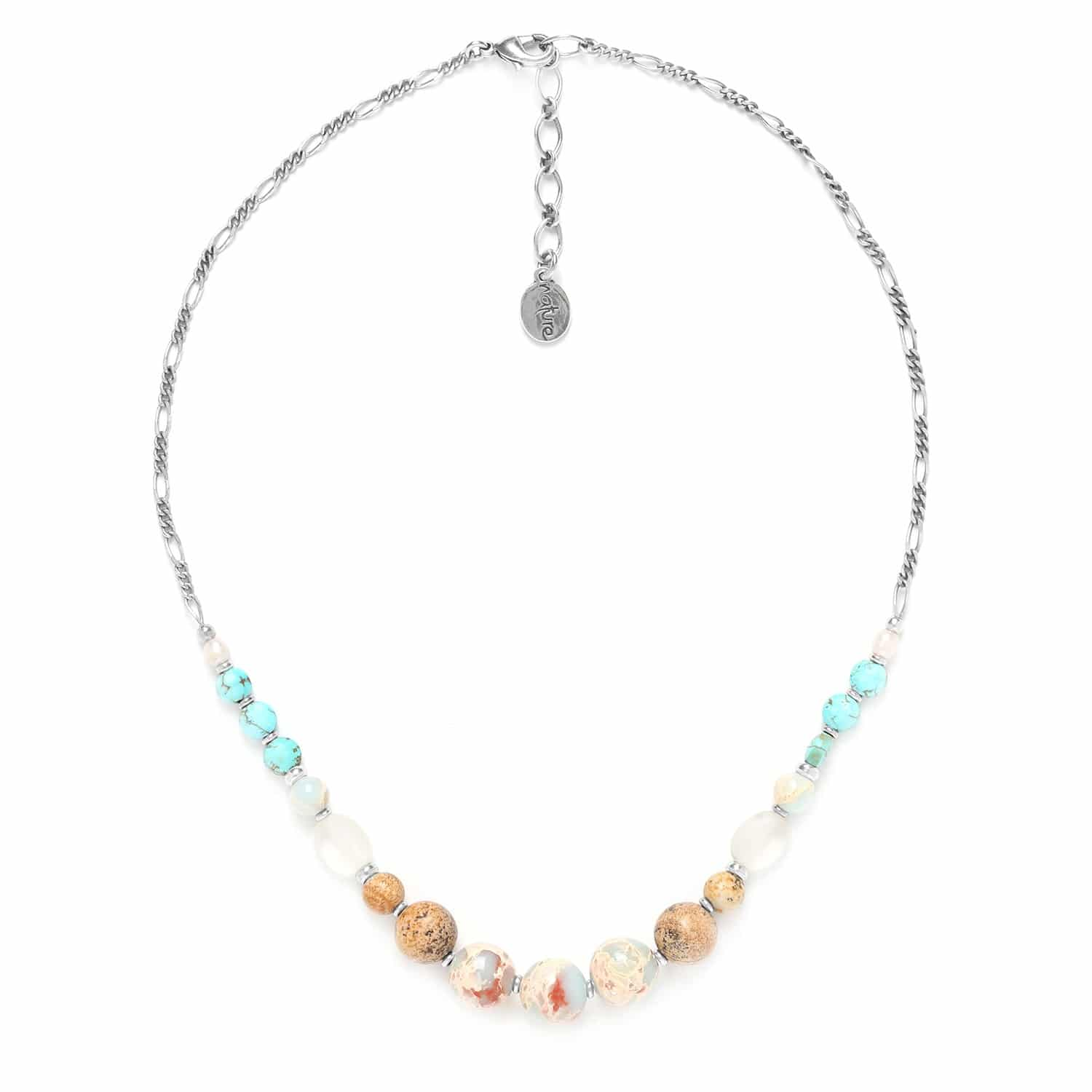 COLORADO assorted round stone bead necklace