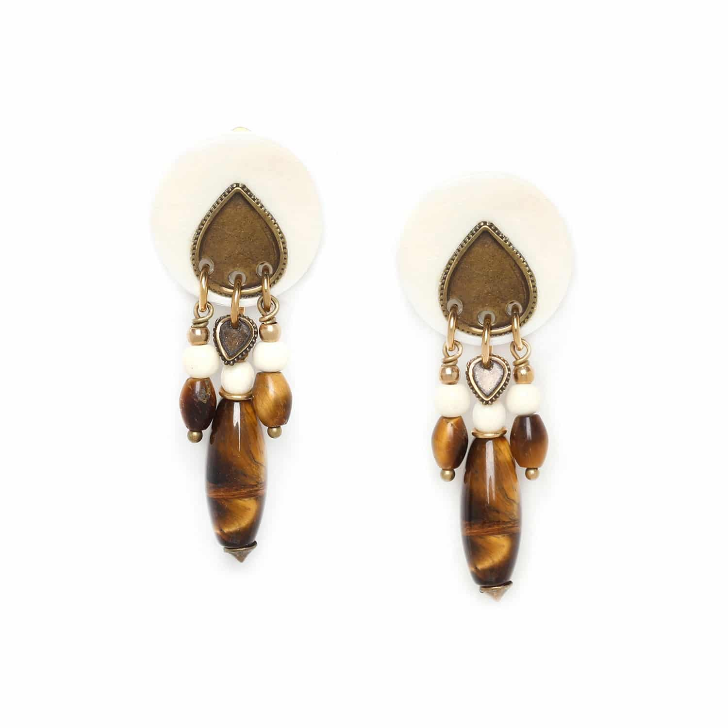 VARANASI  three dangle clip earrings
