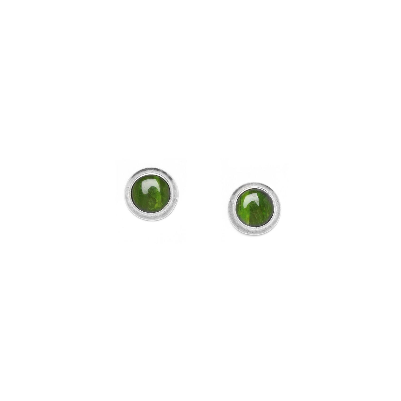 RAPHIA petites boucles d'oreilles vertes