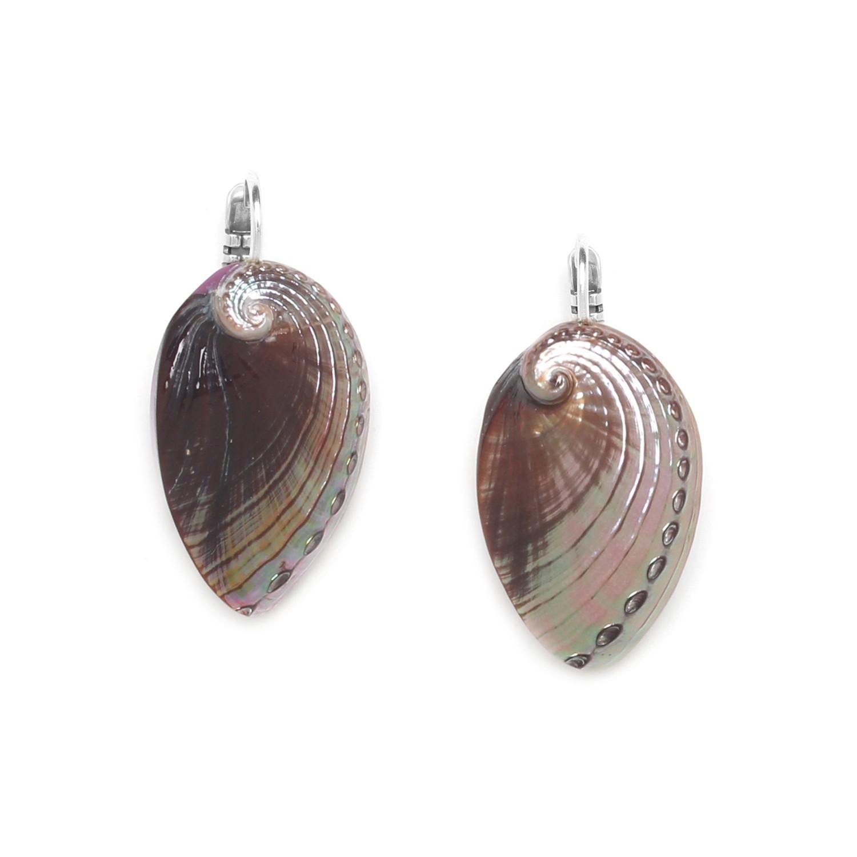 WATER LILY haliotis french hook earrings