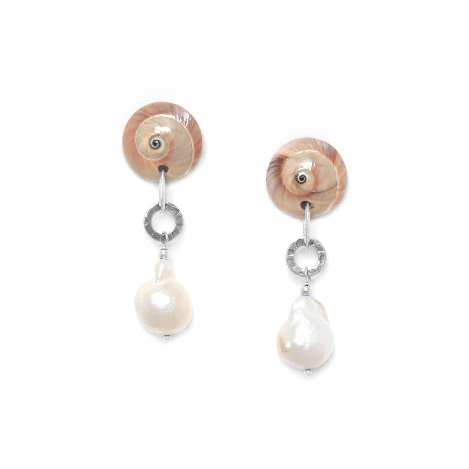 MAKATEA baroque pearl earrings
