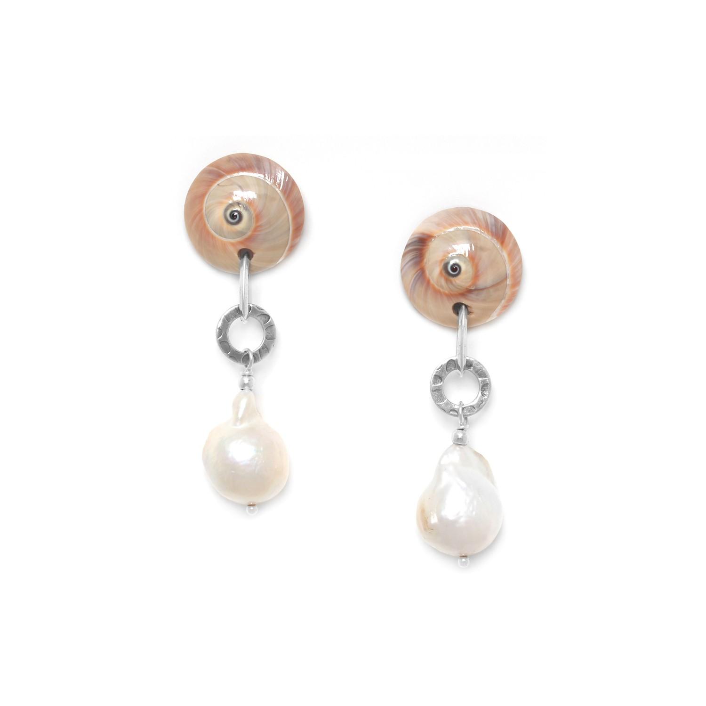 MAKATEA boucles d'oreilles perles de culture baroque