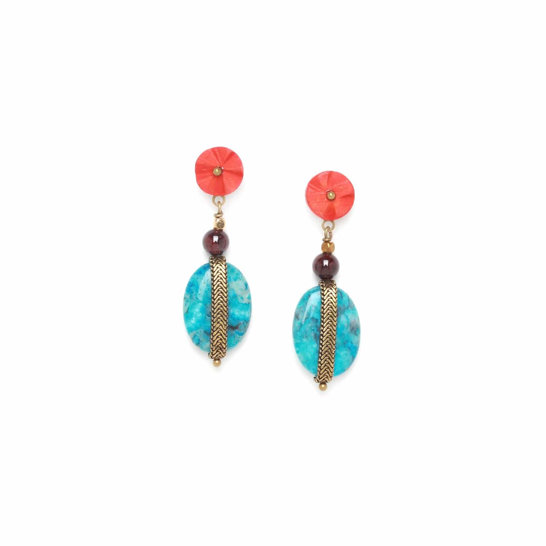 PIGMENTS larimar earrings