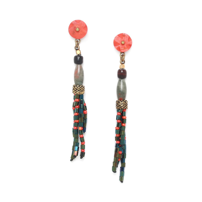 PIGMENTS tassel earrings