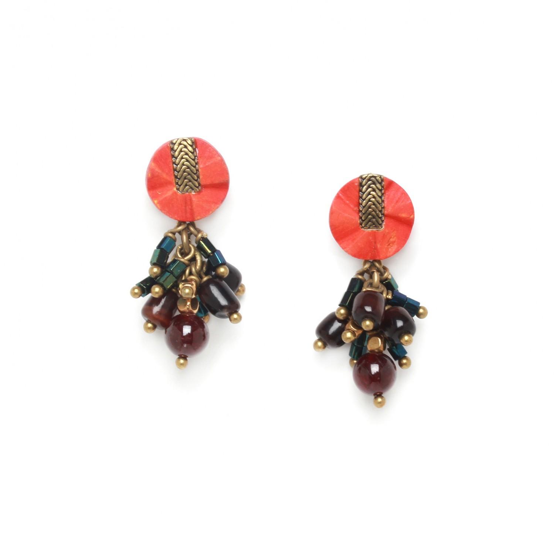 PIGMENTS grape earrings