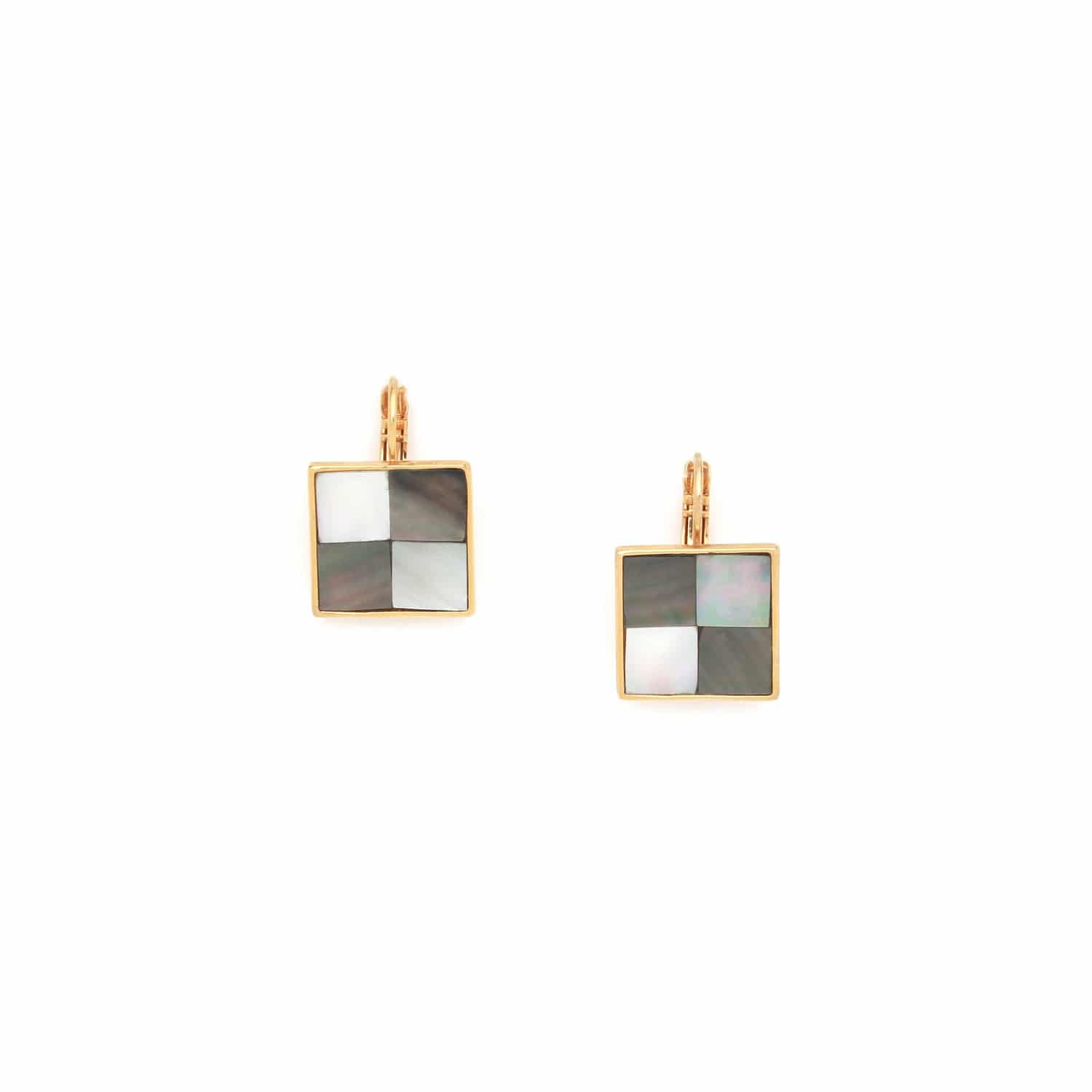 LE SQUARE small french hook earrings