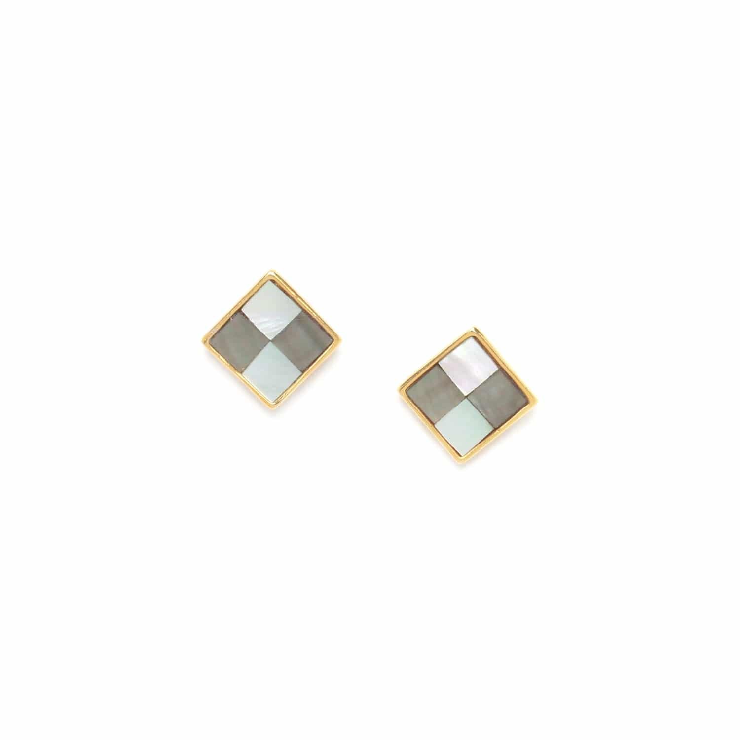 LE SQUARE square post earrings